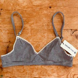 Petite Bateau Triangle Striped Jersey Bra XXS 12 Y